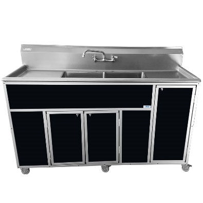 Monsam Commercial Two Deep Basin Portable Sink PSE-2002LA