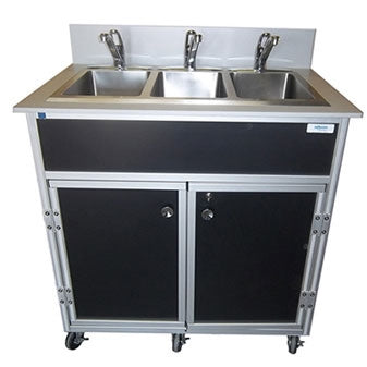 Monsam Three Deep Compartment Portable Sink PSE-2003R
