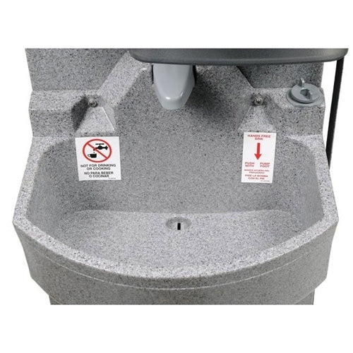 PolyJohn Portable Hand Washing Sink, Heated Water, GrandStand PSW1-2100
