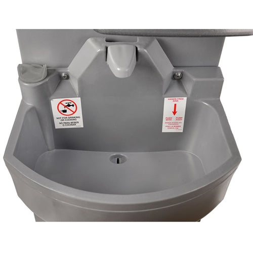 PolyJohn Portable Hand Washing Sink, Deep Bowl, HandStand 2, PSW2-1000