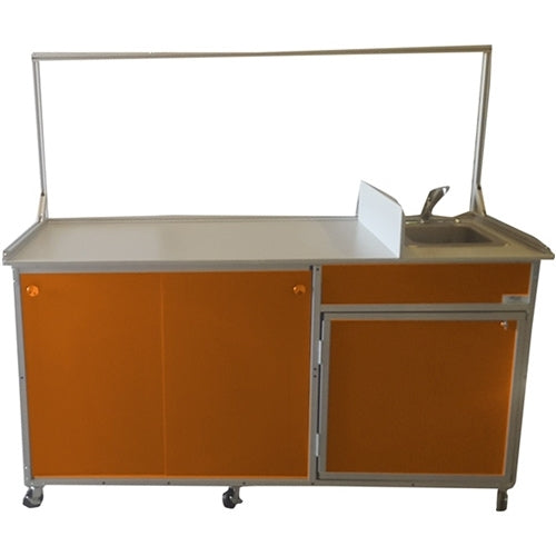 Monsam Food Service Cart with Portable Self Contained Sink FSC-001