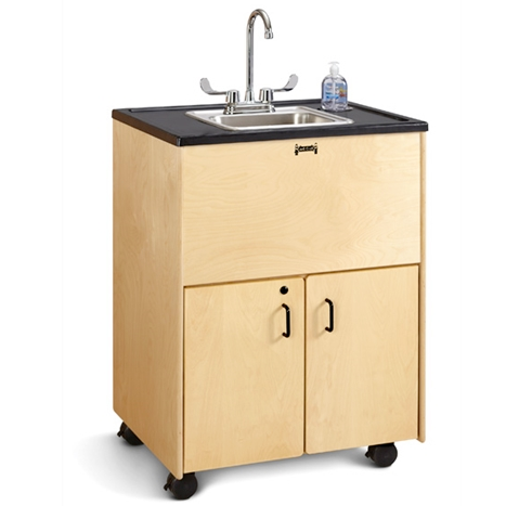 "Jonti-Craft 1373JC, 38"" Adult Height Portable Sink, Stainless Steel Basin"