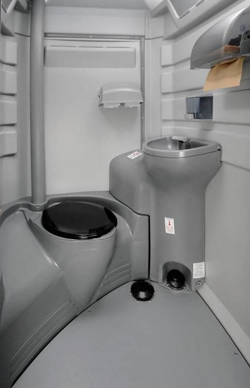 PolyJohn Fleet Portable Restroom w/ Fresh Flush and Sink