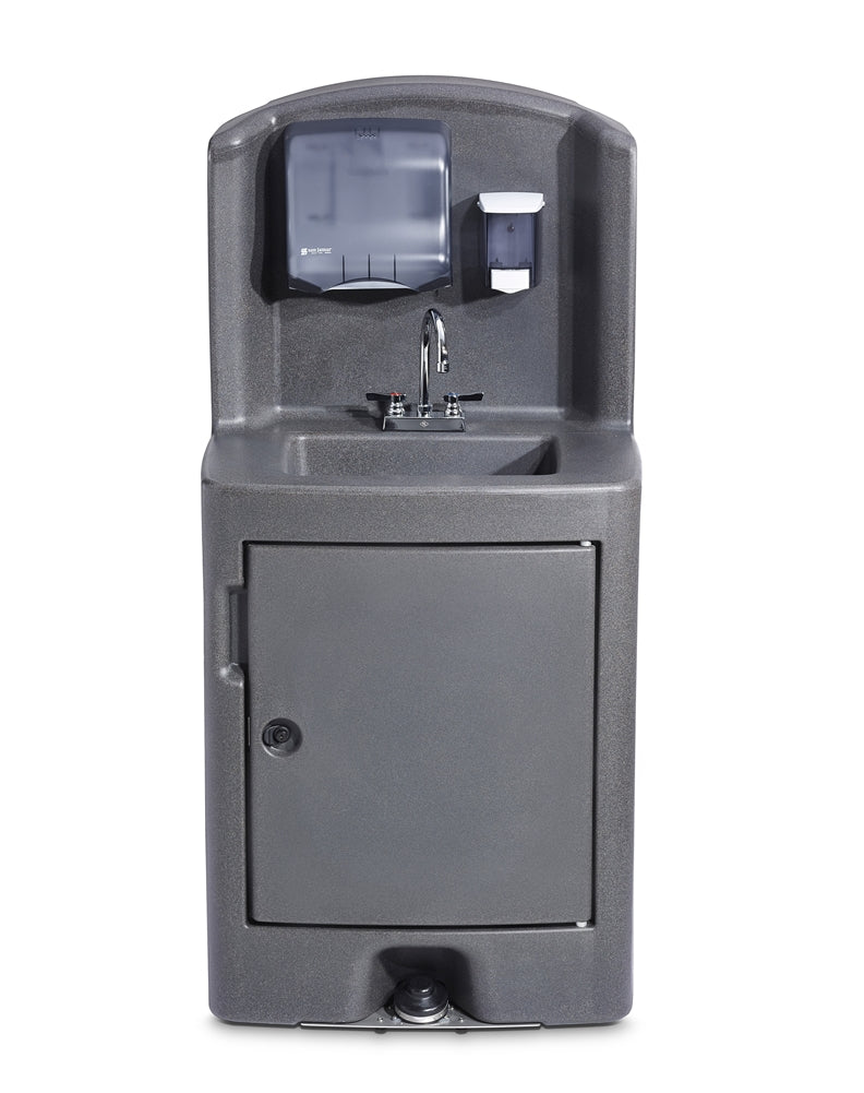 Crown Verity CV-PHS-5C Single Basin Portable Sink, Cold Water (Non-Heated) - Foot Pump Activation