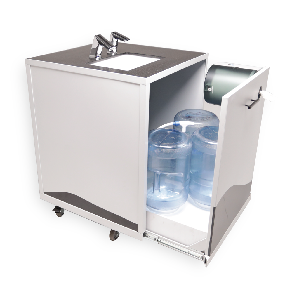 S2 Design Wash Cube Portable Sink, Non-Heated, Touch-Free Sensor Faucet & Soap Dispenser, Battery Powered - TC2500