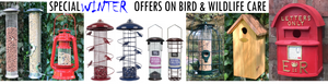 sale specail offer bird feeders and wildlife care