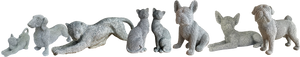 Glitzy glittery diamante animal ornament figurine decoration