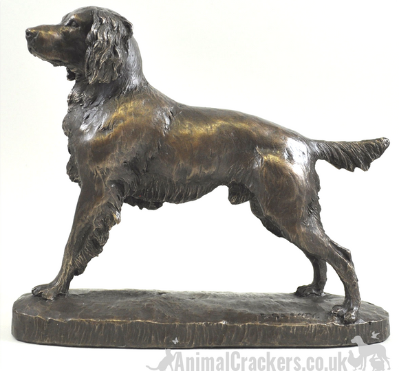 Bronze Springer Spaniel figurine by David Geenty ornament collectable sculpture