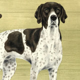 20cm Metal old style English Pointer breed character hanging sign plaque decor