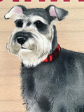 20cm metal vintage style Schnauzer lover gift breed character hang sign plaque