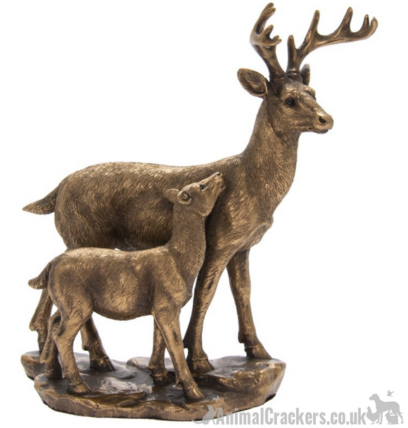 Deer & Fawn ornament from the Bronzed Reflections range by Leonardo, gift boxed