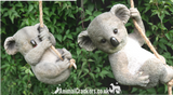 Rope tree hanging Koala, novelty garden ornament/ figurine. Great Koala lover gift