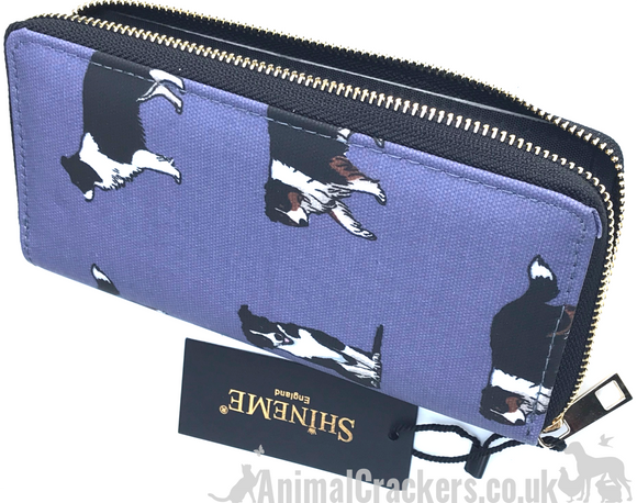 Border Collie zipped Purse/Wallet, multi compartment, great Sheepdog lover gift