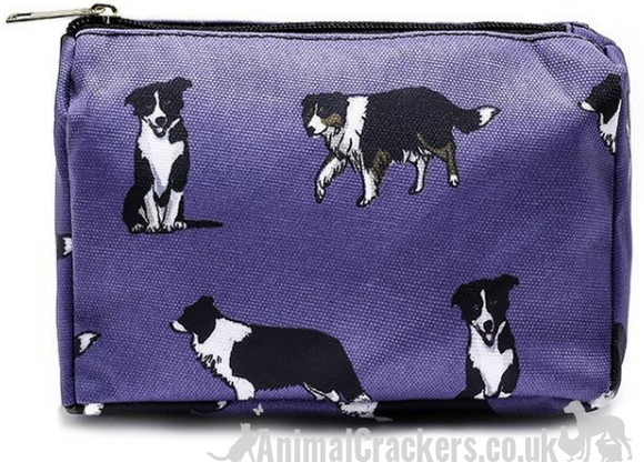 BORDER COLLIE Cosmetic makeup bag, Sheepdog lover gift