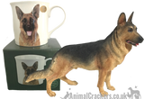 Alsatian German Shepherd quality Leonardo ORNAMENT + MUG SET figurine sculpture