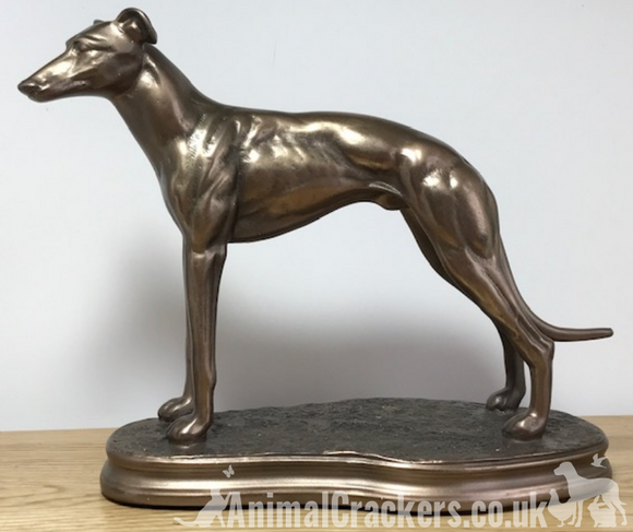 Single Greyhound figurine in Cold Cast Bronze, from Beauchamp