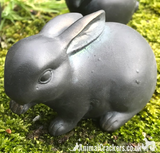 SET OF 4 heavy old brass effect cute Rabbit ornaments, great bunny or garden lover gift