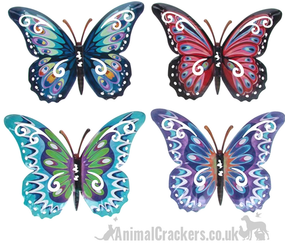 Set of 4 24cm Metal Butterflies garden decoration wall art butterfly lover gift