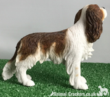 Chestnut & White Cavalier King Charles Spaniel Leonardo ornament figurine, boxed