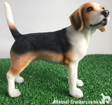Beagle ornament sculpture statue lifelike figurine Leonardo range, Gift boxed