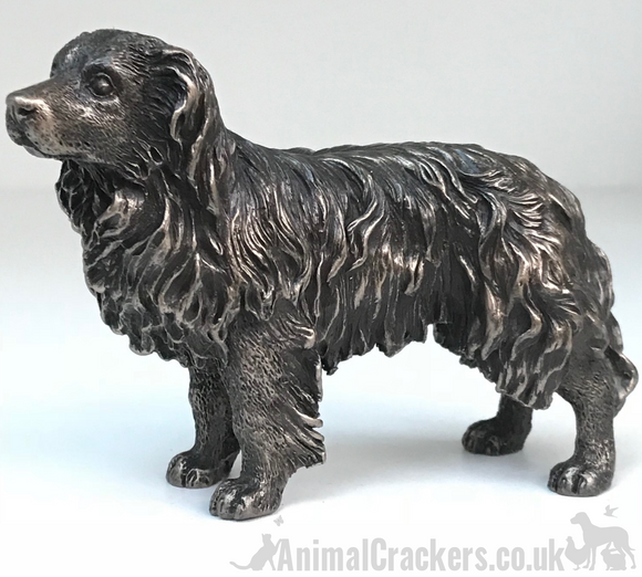 Bronze Border Collie Sheepdog sculpture ornament figurine statue dog lover gift