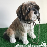 Large 17cm Brown Shih Tzu ornament figurine quality Leonardo walkies range boxed