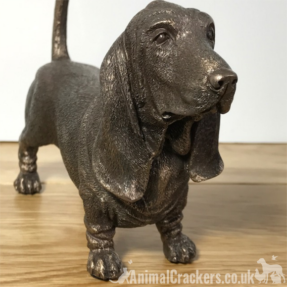 Bronze Basset Hound lover gift Beauchamp sculpture ornament figurine statue