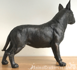 24cm English Bull Terrier ornament figurine decoration dark bronze effect Dog Lover Gift