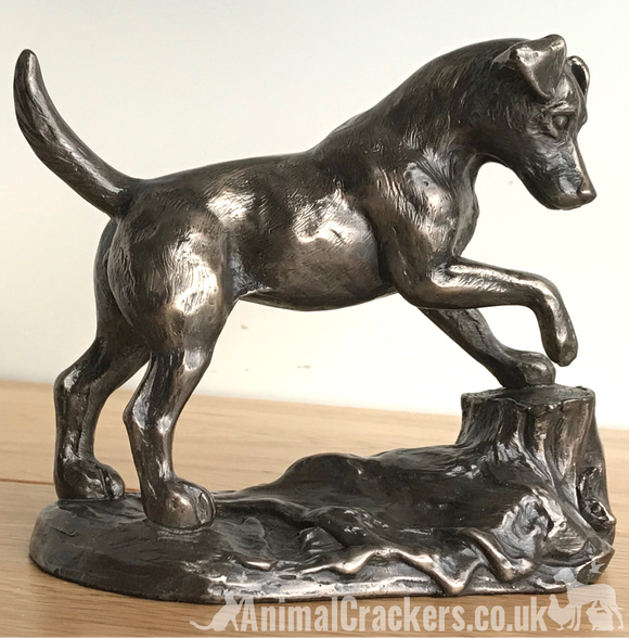 Bronze Jack Russell Terrier ornament figurine by Harriet Glen Dog Lover Gift