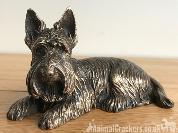 Bronze Scottish Terrier Beauchamp sculpture ornament figurine Scottie lover