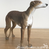 Brindle Greyhound ornament sculpture statue lifelike Leonardo figurine, boxed