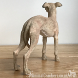 Whippet ornament sculpture statue quality realistic Leonardo figurine gift boxed