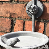Old Shower Head Bird Bath Feeder sturdy metal easy hang garden bird lover gift