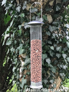 "Large 18"" wild bird NUT FEEDER by Natures Market deluxe model, sturdy and easy clean"