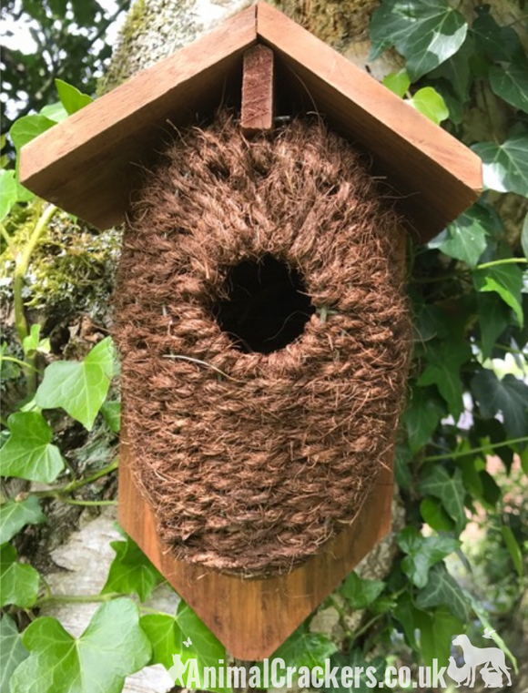 Bird house nest box cocoon for wren & small garden birds quality Best for Birds