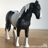 Piebald Black & White Cob ornament Leonardo coloured horse pony lover gift boxed