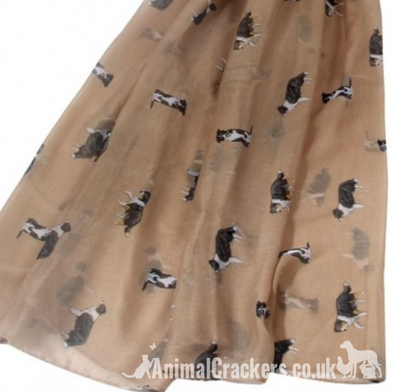Border Collie design ladies Scarf Sarong, quality cotton mix fabric, great Sheepdog lover gift