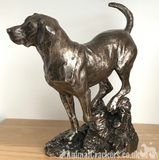 Large heavy Bronze Labrador sculpture ornament figurine statue by David Geenty