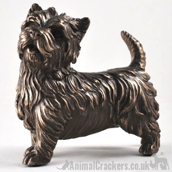 Cold Cast Bronze stood West Highland Terrier Westie ornament sculpture figurine