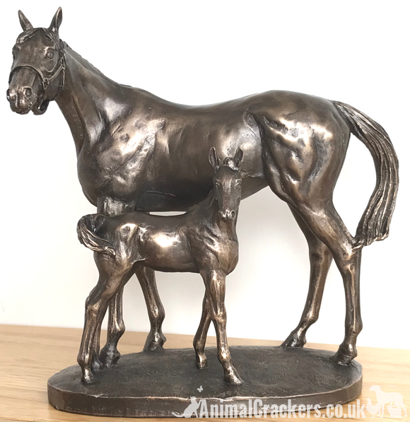 Mare & Foal ornament on Cold Cast Bronze, by David Geenty