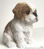 Vivid Arts Pet Pals Beige & White Shih Tzu Puppy ornament, Dog lover gift, in presentation gift box