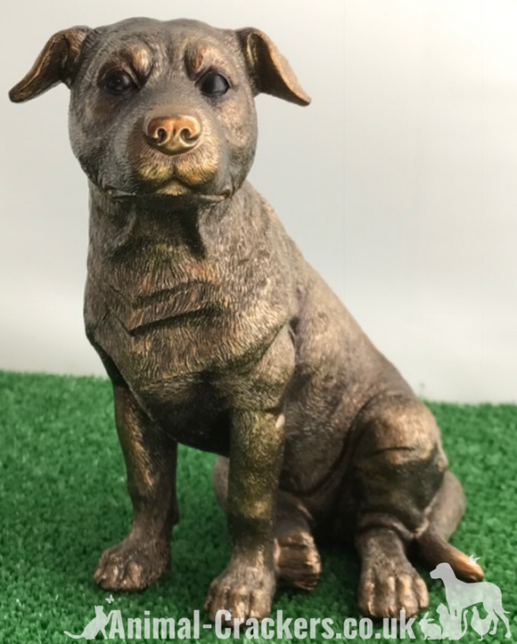 Staffordshire Bull Terrier Staffy Staffie Leonardo Bronzed ornament, gift boxed