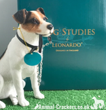 Large 16cm Jack Russell ornament figurine quality lifelike Leonardo. Gift boxed