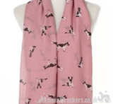 German Shepherd print cotton mix ladies Scarf Sarong Alsatian dog lover gift