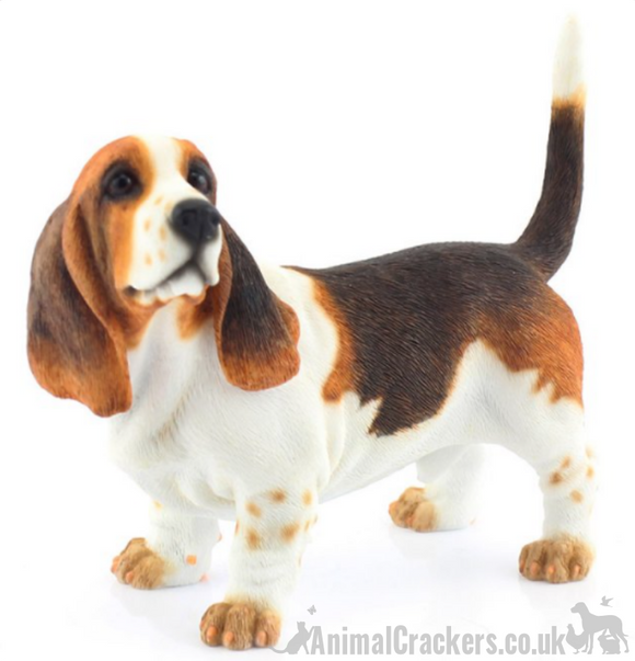 Basset Hound lifelike ornament figurine from Leonardo, gift boxed