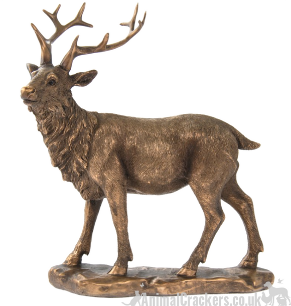 Stag ornament from the Bronzed Reflections range by Leonardo, gift boxed