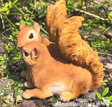 PAIR OF SQUIRRELS novelty home or garden ornament figurine, great Squirrel lover gift