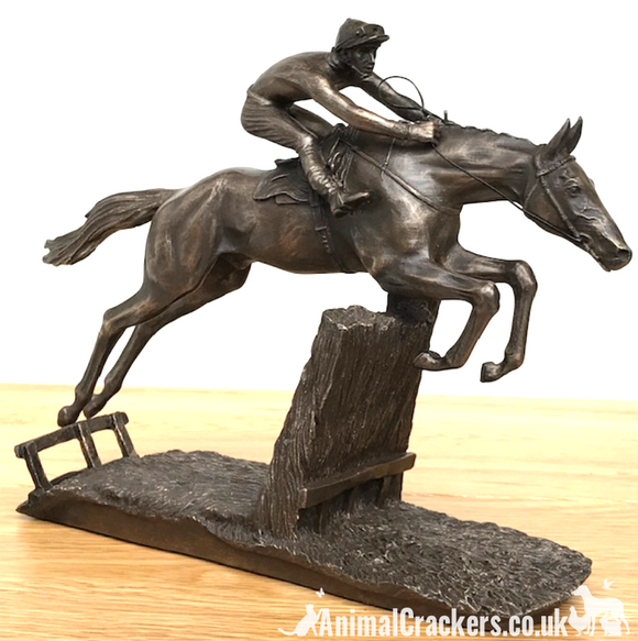 David Geenty 'At Full Stretch' bronze racehorse ornament figurine sculpture gift