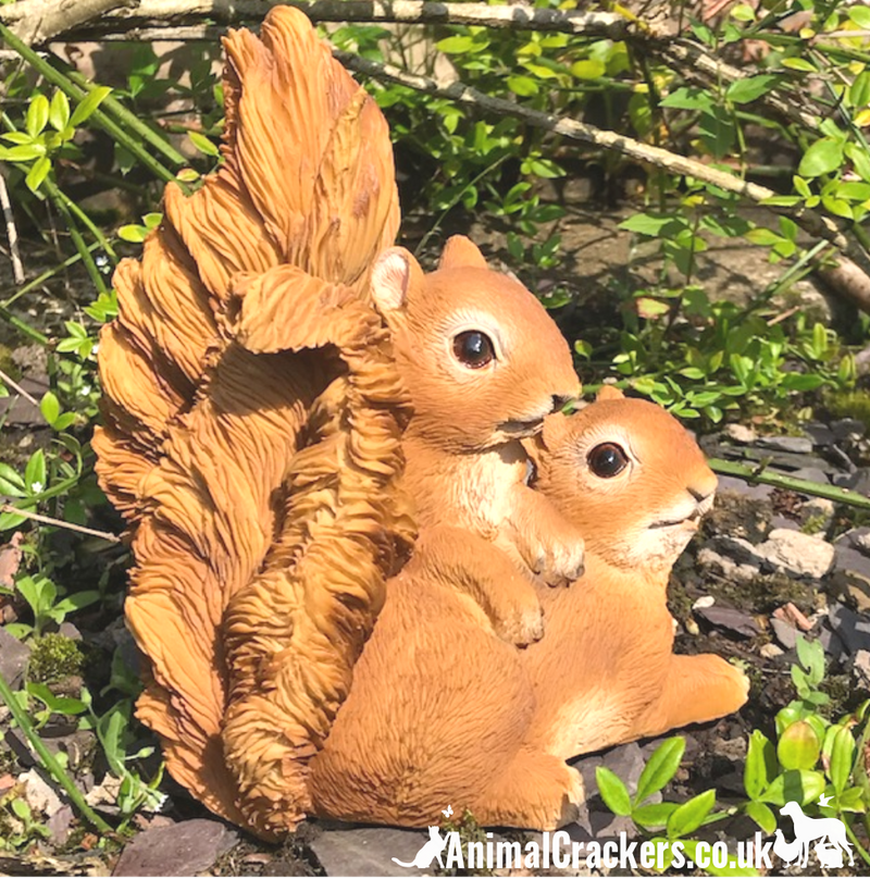 PLAYFUL SQUIRRELS novelty home or garden ornament figurine, great Squirrel lover gift