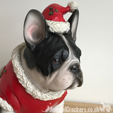 Large B&W French Bulldog Frenchie Dog Christmas jumper ornament decoration gift